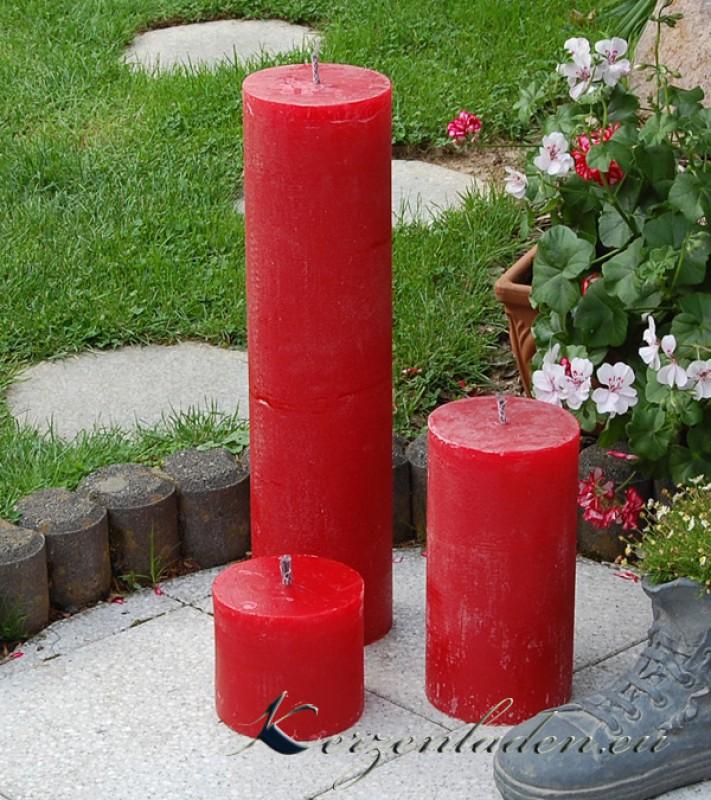 Outdoor kerze stumpen rot 15 30 60cm gartenkerzen Outdoor deko