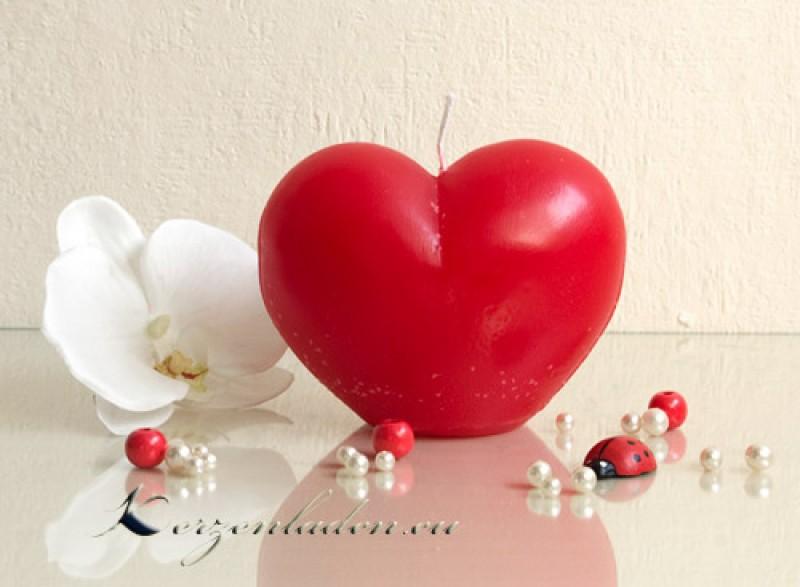kerze herz rot 10cm kerzen herzkerzen muttertag geschenk valentinstag deko liebe ebay. Black Bedroom Furniture Sets. Home Design Ideas