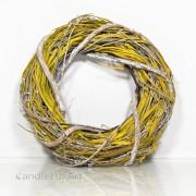 Natur Äste Bast- Osterkranz gewickelt 28cm - gelb