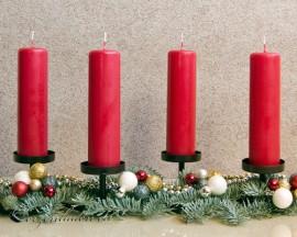 Adventskerzen Weihnachtskerzen 4er Set - dunkelrot - 15cm