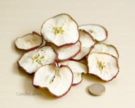 Dekoration echte Apfelscheiben rot 50g - Natur