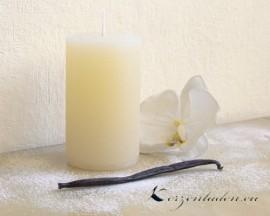 Stumpen Duftkerze Vanille - Elfenbein