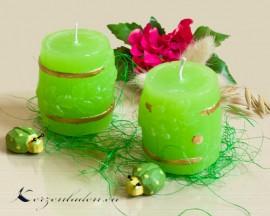 Kerze Bierfass - grün