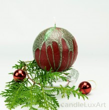 KugelkerzeTropfendesign - 10cm - rot grün