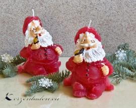 Weihnachtsmann Kerze - 12cm