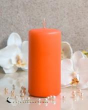 Stumpenkerze Matt Orange - 6 x 12cm