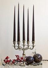 12er Tafelkerzen Spitzkerzen Leuchterkerzen Set - Dunkelbraun 38cm
