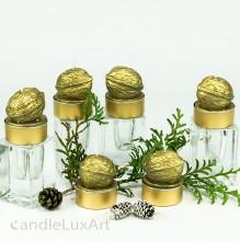 Teelichter Kerzen 6er Set goldene Wallnuss