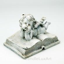 Trauerengel auf Buch liegend 14cm