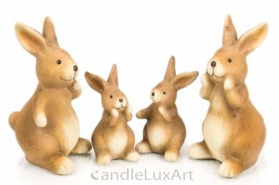 Keramik Hasen sitzend  6 und 13cm vier Variantionen