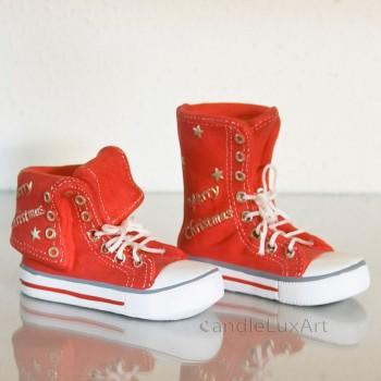 Spardose Schuh und Stiefel Keramik - Weihnachtsspardose