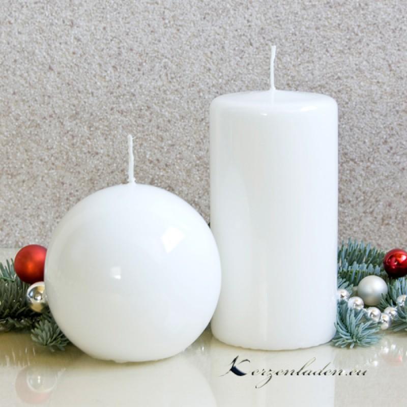 Kugelkerze Weihnachtskerzen 8 cm Kerze Kugel Asche Kranz Engelmotiv