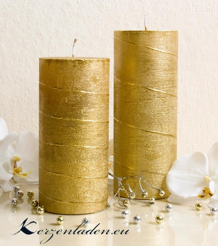 Stumpenkerze spiral deko gold silber 15 18 kerzen weihnachtskerzen adventskerzen ebay - Dekoration kerzen ...