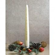 Kerze - Adventskalender  creme - 47cm