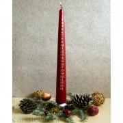 Kerze - Adventskalender  Bordo - 47cm