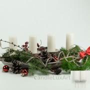 Adventskerzen Weihnachtskerzen 4er Set Weiß 10cm