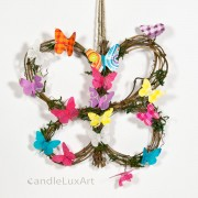 Natur Anhänger Reben Schmetterling 23cm