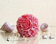 Rosen Kugelkerze - perlmutt - verschiedene Farben