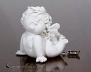 Engel Igor sitzend auf Bauch  12-13cm - Nr.2