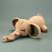 Elefant alt rosa 38cm  Strickware Handmade Amigurumi