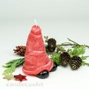 Kerze Weihnachten Mütze 12cm