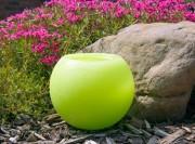 Gartenkerze Outdoorkerze Kugel Romantik 15cm grün