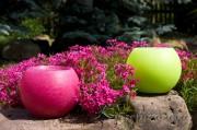 Gartenkerze Outdoorkerze Kugel Romantik 15cm pink