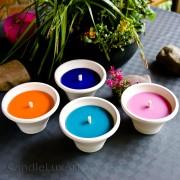 Gartenfackel im Terracotta Topf - 4 Farben