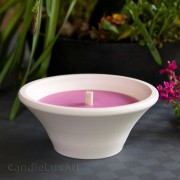 Gartenfackel im Terracotta Topf - Pink