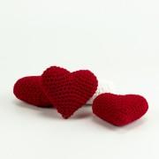 1 Herz rot 6cm  - Amigurumi Handmade