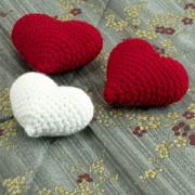 1 Herz weiß 6cm  - Amigurumi Handmade