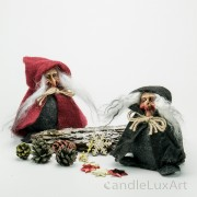 Filz Hexen Weihnachtsfiguren rot und schwarz 13cm