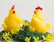 Osterkerze Figur  - Lustiges Huhn