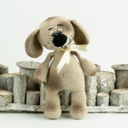 Beiger Hund 25cm  Amigurumi Handmade