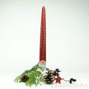 Adventskalender Weihnachtskerze Weihnachtsmann 39cm