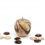 Kerze Apfel und Birne handgeknetet braun 7,5-12cm