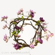 Äste Blüten Kranz rosa-violett - 30cm