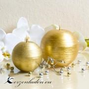 Kugelkerze Gold - patiniert - 6cm