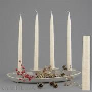 4  Leuchterkerzen creme Alt 35cm