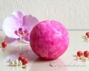 Mosaik Kugelkerze 10cm - pink