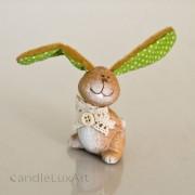 1 Keramik Hase Plüschohr - grün