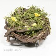 Natur Osternest - 14cm - Äste-Gras-Blüten