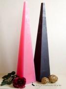 Pyramidenkerze - Bodenkerze 80cm - pink