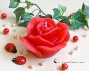 Rosenkerzen Rosenblüten - schwarz, weis, rot, rosa, gelb, pink, lila, orange