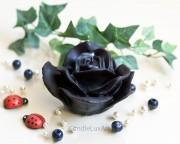 Rosenkerze Rosenblüte schwarz