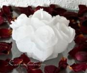 Rosenblüte - Rosenstrauß 10cm weiß