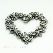 Trauer Herz aus Rosenblüten 13cm