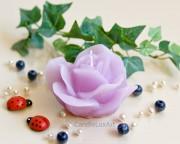 Rosenkerze Rosenblüte helllila