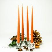 4er Tafelkerzen Spitzkerzen Set  Edel lackiert Orange 32cm