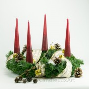 4 Tafelkerzen Adventskerzen - Bordo Rot 25cm